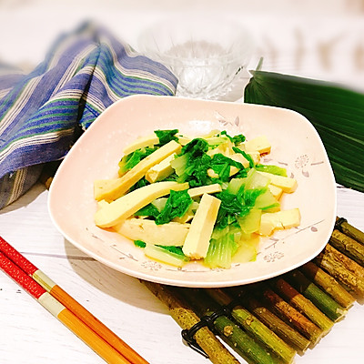凉拌香干黄芽菜