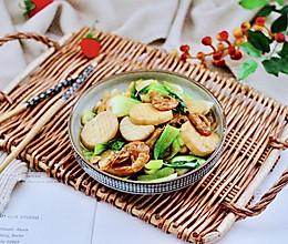 #一道菜表白豆果美食#杏鲍菇虾干青菜小炒的做法