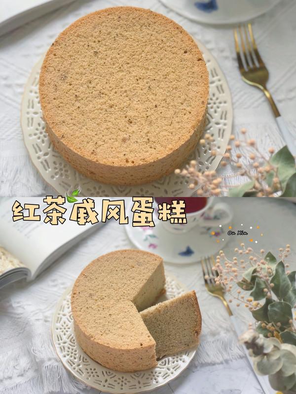 6寸红茶戚风蛋糕的做法