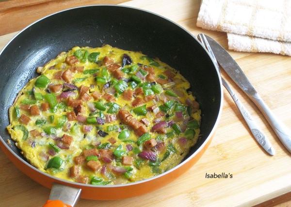 快手早餐——蔬菜烘蛋的做法