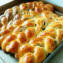 蜜豆辫子面包#东菱魔法云面包机#