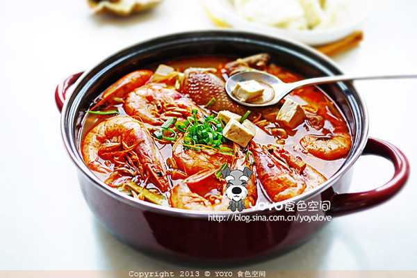 家常豆腐大虾汤的做法