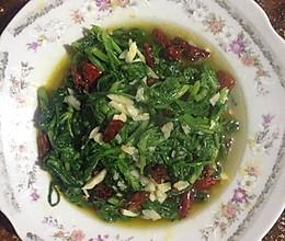 蒜泥茼蒿菜的做法