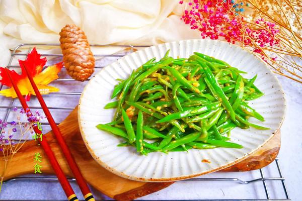 蒜香蚝油炒豆角丝的做法