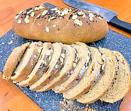 健康全麦面包(孕妈妈和减肥人士这里看)的做法