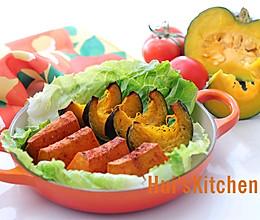 暖在手甜在心的烤南瓜的做法
