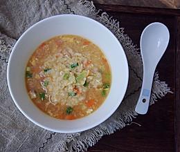 高汤杂蔬烫饭的做法
