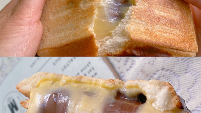 ㊙️营养早餐~软糯拉丝的麻薯芝士三明治的做法