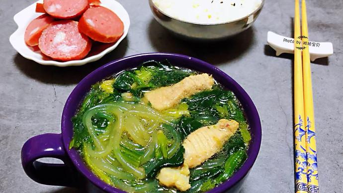 粉条鲜肉菠菜汤