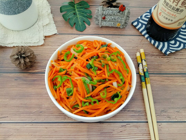 清炒胡萝卜的做法