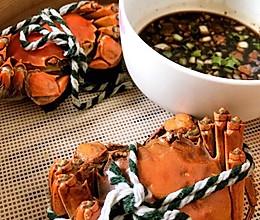 清蒸螃蟹(内涵秘制蘸料配方)的做法