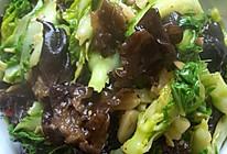 黑木耳炒白菜苔的做法