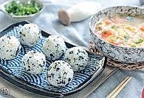 紫菜饭团&鸡腿菇蛋花汤的做法