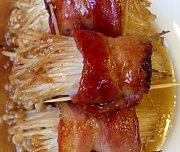 培根金针菇肉卷的做法