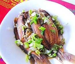 葱姜丝蒸咸鱼的做法