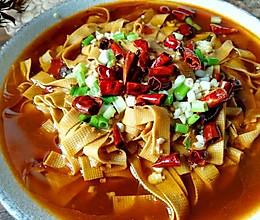 水煮豆腐皮的做法