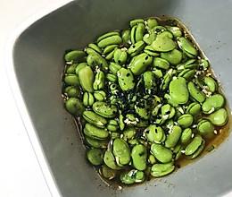 芥末蚕豆的做法