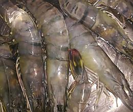碳烤蒜蓉老虎虾,减脂美食馋到流口水的做法