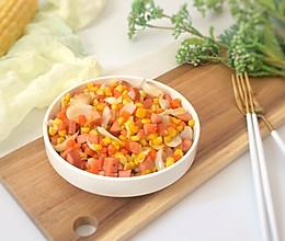 脆皮肠玉米百合杂炒的做法