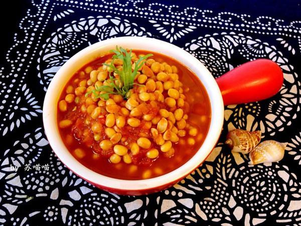 秘制茄汁黄豆的做法