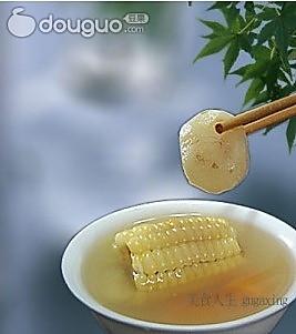 马蹄玉米汤的做法