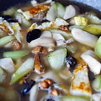 素食记—丝瓜菌菇炖的做法图解6