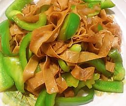 豆筋炒青椒的做法