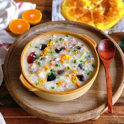 这是什么神仙粥❓咸蛋黄皮蛋瘦肉粥