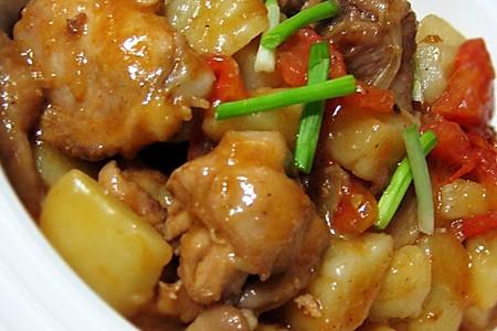 番茄土豆炖鸡块的做法