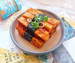 #四季宝蓝小罐#酱烧海苔豆腐的做法