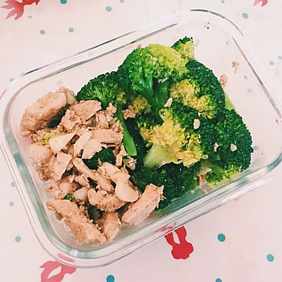 西兰花鸡胸肉(健身餐1)