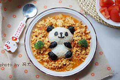 熊猫拌饭#柏翠辅食节-营养佐餐#