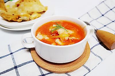 #鲜动生活越南龙利鱼柳试吃#番茄鱼片汤