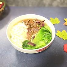 洋葱炒牛肉青菜面