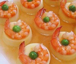 日本豆腐蒸虾仁的做法