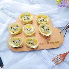 #馅儿料美食,哪种最好吃#香菇瘦肉卡通蒸饺