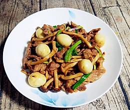 轻食系|健康低脂私房海鲜菇炒牛柳的做法