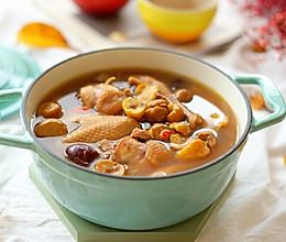 红枣板栗炖鸡汤的做法