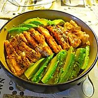 三文鱼牛油果饭的做法图解4