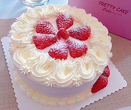 草莓生日蛋糕(8寸)的做法