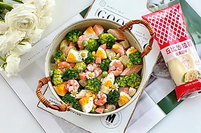 西兰花虾仁土豆沙拉