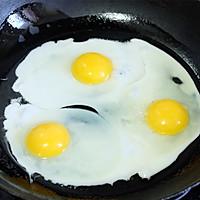 秋葵火腿煎蛋三明治#百吉福食尚达人#的做法图解4