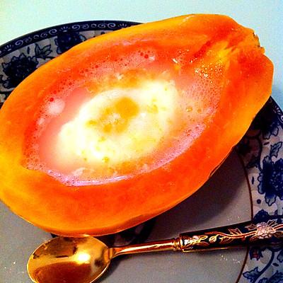 美容又美味的木瓜炖鸡蛋