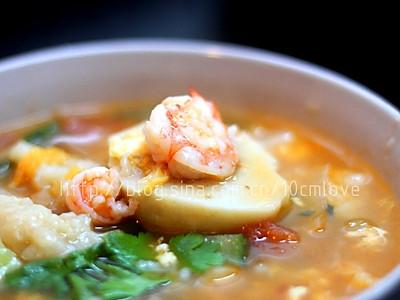 秘制杂锦疙瘩汤的做法