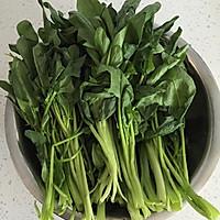 果仁菠菜的做法图解1