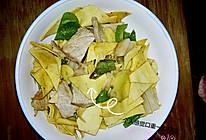 干豆腐炒尖椒肉的做法