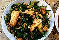 韭菜杭椒荷包蛋的做法