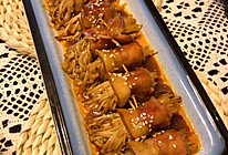 培根金针菇卷的做法