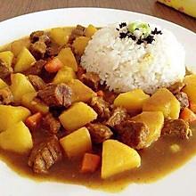 黄金咖喱土豆牛肉饭#奇妙咖喱,拯救萌娃食欲#