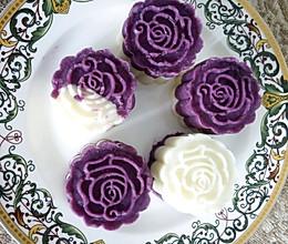 精致甜点——紫薯山药糕的做法